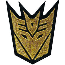 Decepticon Transformers Gold Autobot Car Truck Pickup Robot Iron On Patches C102