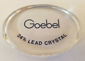 Vintage GOEBEL Glass Crystal Dealer Promotional Store Advertising Display Sign