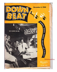 Down Beat 1946 Mezz Mezzrow Biddy Rich Don Ewell Hal McIntyre Davie Tough JAZZ