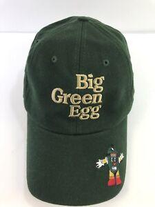Official Big Green Egg BGE Adjustable Hat Cap Green 2 Embroidered Logos