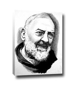 Padre Pio canvas  tela quadro  arredo design 60 cm x 40 cm   (bordo da 2 cm)