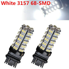 2X White 3157 3156 Car Reverse Light Backup 68-SMD LED Bulb Lights 3057 3047