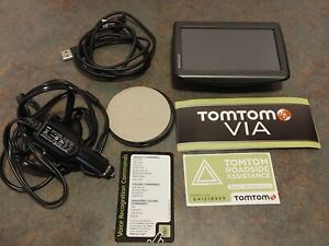 NEW TomTom VIA 4EQ50 GPS with Lifetime Map - Black with Case Bundle