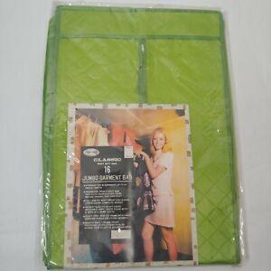 "Vintage Jumbo Garment Bag Action-Lobeco Storage x16 54"" Chartreuse Green Vinyl"