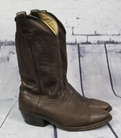 Mens Brown Soft Leather Cowboy Boots Size 8.5 D Unbranded Nice Quality 1635 9942