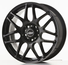 "8""x18"" JBW ROGUE GLOSS BLACK ALLOY WHEELS+TYRES TO VW T5 T6 SET OF 4"