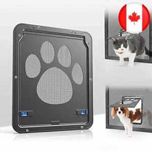 Namsan Cat Screen Door - Inside Size 8.25x10.4 inches Sliding Screen Doggie Door