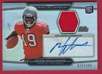 MIKE WILLIAMS RC 2010 TOPPS PLATINUM ROOKIE JERSEY AUTO #95/800 AUTOGRAPH