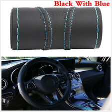 Super Anti-wear Leather Car Steering Wheel Cover 38cm With Needles and Thread