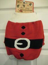 Knitted Santa dog jumper, Christmas dog jumper, size large, dog coat