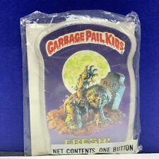 Garbage Pail Kids pinback button pin vintage 1986 sealed topps card Fresh zombie