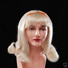 Ladies Wig Blonde Lady  Party Dress up Halloween Costume Party