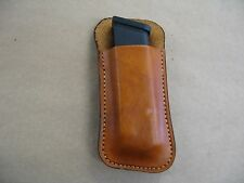 Leather 1 Slot Owb Belt Conceal Magazine Mag Pouch For Glock 19, 23 /32 Ccw Tan