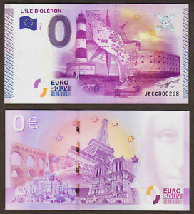 0 Euro Schein - L'ILE D'OLERON - 2015 - UNC euro souvenir - FRANCE - fort boyard