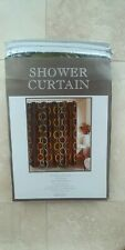 "Brown 100% Polyester Shower Curtain. Size: 70""×72"""