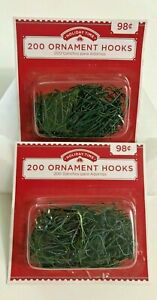 400 Christmas Green Ornament Hooks Tree Hangers SMALL Metal New In Package