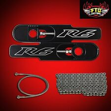 "Yamaha R6 Swingarm Extensions 2009 & 36"" Brake line, Chain R6 Swingarm Extension"