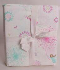 Pottery Barn Kids Maya Dandelion full sheet set sheets cotton percale pink aqua
