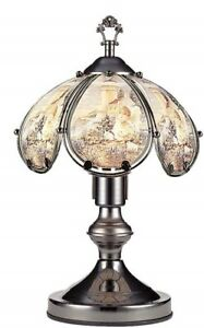 Angel and Lighthouse Theme  touch Lamp 14 inch