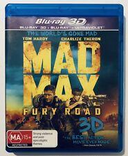 Mad Max Fury Road (3D + Blu-Ray, 2-Discs) VGC Rated MA15+ Region B Aus Tom Hardy