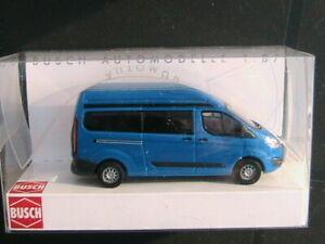 silber #52505 BUSCH Modelle 1:87//H0 FORD Transit Custom Bus mit Hochdach