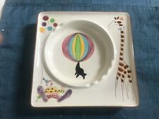 """SUPERB VINTAGE RARE LARGE 9"""" Stangl Pottery BIG TOP CIRCUS ASHTRAY Dish EXCLLNT"""