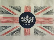 Whole Foods London Shopping Bags (2) Brand New