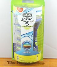 Schick Hydro 5 Premium Power Select Vibration Razor+6 Refill Cartridges Blades