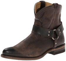 NEW FRYE Women's Wyatt Harness Short Boot slate Leather Size 6.5