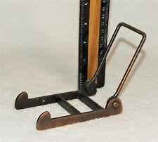 Vintage metal easel picture or display plate rack - 2 ½� wide & 3 7/8� tall