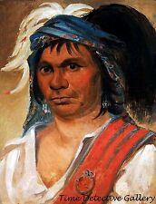 Hard Hickory, a Seneca Man by George Catlin -1831 Native American Art Print