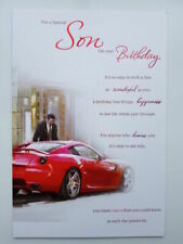 for a Special Son on Your Birthday Card - Red Sports Car Lovely Verse
