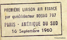 1960  PARIS  AMERIQUE DU SUD  BOEING 707  Airmail Aviation premier vol AC30