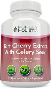 Tart Cherry Extract With Celery Seed 1000mg 180 Vegetarian Capsules not Tablets