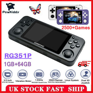 ANBERNIC RG351P Retro Game Player Video Game Console RK3326 With 2500 Games 64GB