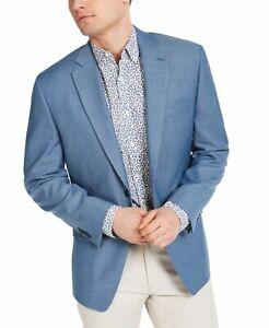 Michael Kors Mens Sport Coat Blue Size 40 Short Classic Fit Kelson $295 #183