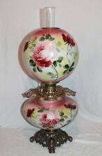 100% Original Jumbo GWTW  Gone with the Wind Banquet Oil Lamp ROSES!!
