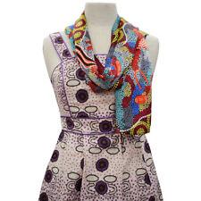 4bcf8589977 Womens Ladies 100% Silk Womens Scarf Australian Aboriginal Art