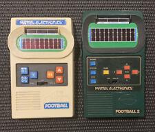 Lot (2) Vintage 1970s Mattel Electronics Football tested Original Authentic
