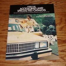 Original 1978 Ford Car Accessories Sales Brochure 78 Mustang Thunderbird