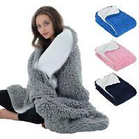 Large Luxury Soft Sherpa Fleece Blanket Chunky Double Layer Warm Sofa Bed Throw