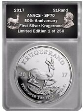 2017 South African Silver Krugerrand SP70 50th Anniversary 1 OF 250 EDITION!