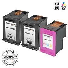 3pk Black & Color Printer Ink Cartridge for HP 61 61 Deskjet 3050 3050a