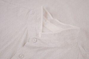 NWT rag & bone Size Medium Dress Shirt in White Black Stripes Banded Collar $325
