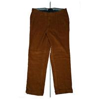 HILTL Herren comfort cord Chino Jeans Hose 36/30 Bundfalten 25 W36 L30 Braun NEU