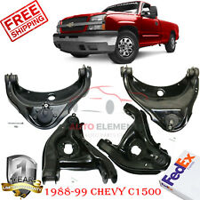 Front Left/Right Upper and Lower Control Arm Kit 4 Pcs, For 1988-1999 Chevy GMC