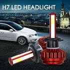Pair COB H7 80W 16000Lm LED Car Headlight Conversion Globes Bulbs Beam 6000K Kit
