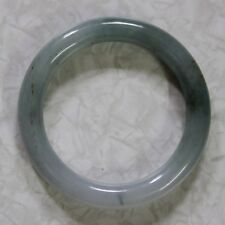 CERTIFIED Natural (A) Untreated Oily Green Jadeite JADE Bangle, 54mm 油青玉