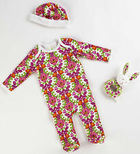 Vera Bradley Baby Gift Set Lilli Belle Pattern  3-12 Mo Layette and Body Suits