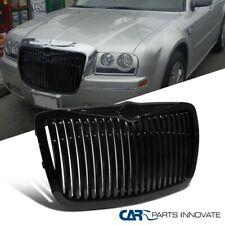 For 05-10 Chrysler 300 300C Black ABS Vertical Style Front Bumper Hood Grille